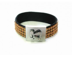 STZ Crystal Strap Bracelet With Silver Heart Clasp