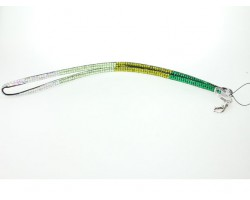 Emerald Multi Color Clear AB Crystal Lanyard For ID Tags or Eyeglasses