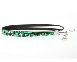 Leopard Green Crystal Lanyard For ID Tags Or Eyeglasses