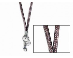 Light Rose Crystal Lanyard For ID Tags or Eye Glasses