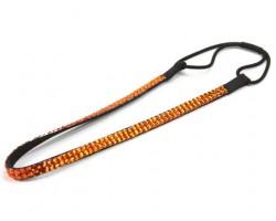Orange Crystal 2 Row Headband Stretch