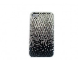 Jet Black Diamond Clear Crystal iPhone 4 & 4S Cell Case