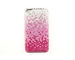 Hot Pink Rose Clear Crystal iPhone 4 & 4S Cell Case