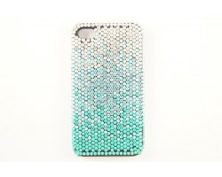 Blue Zircon Aqua Clear Crystal iPhone 4 & 4S Cell Case