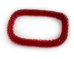 Opaque Red Genuine Nepal Hand Crafted Roll On Mission Bracelets