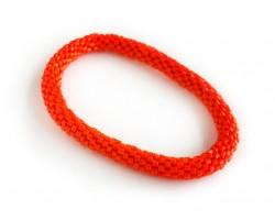 Orange Genuine Nepal Hand Crafted Roll On Mission Bracelets