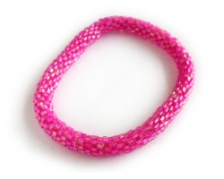 Pink Genuine Nepal Hand Crafted Roll On Mission Bracelets