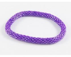 Purple Genuine Nepal Hand Crafted Roll On Mission Bracelets