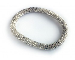 Silver Genuine Nepal Hand Crafted Roll On Mission Bracelets