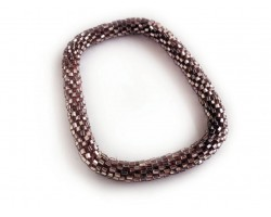 Taupe Genuine Nepal Hand Crafted Roll On Mission Bracelets