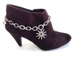 Crystal Spur Large Link Boot Bracelet Jewelry