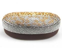 Brown Fade Crystal Sun Glass Case