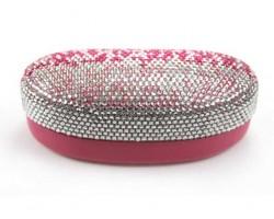 Pink Fade Crystal Sun Glass Case