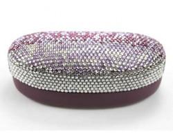 Purple Fade Crystal Sun Glass Case