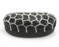 Black Tortoise Crystal Sun Glass Case
