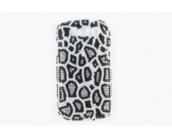 Jet & Clear Leopard Crystal Galaxy S III Cell Phone Case