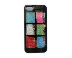 Black Assorted Crystal Square Window iPhone 5 Cell Phone Case