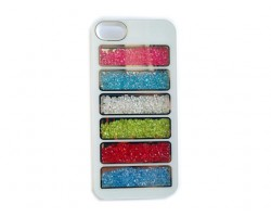 White Assorted Crystal Rectangle Window iPhone 5 Cell Phone Case