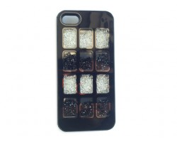 Black Jet & Clear Crystal Box Window iPhone 5 Cell Phone Case