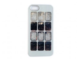 White Jet & Clear Crystal Box Window iPhone 5 Cell Phone Case