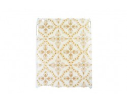 Ivory Baroque Floral Pattern Crystal iPad Case