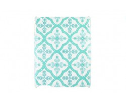 Tiffany Blue Baroque Floral Pattern Crystal iPad Case