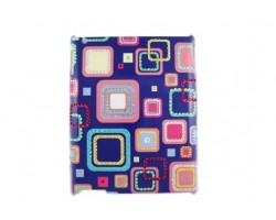 Square Pattern Multi Color Crystal iPad Case