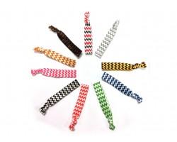 Assorted Color Chevron Stretch Hair Tie 30 Pieces