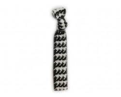 Houndstooth Black & White Stretch Hair Tie 30 Pieces