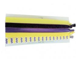 Purple & Gold Plain & Chevron Stretch Headband 30 Pieces