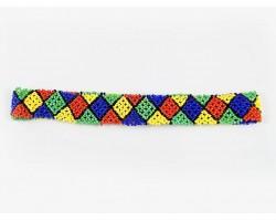 Multi Colored Seed Bead Diamond Stretch Headband