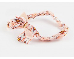 Aztec Light Pink Braided Ribbon Stretch Headband