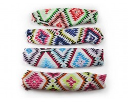 Aztec Diamond Chevron Wide Cloth Headbands