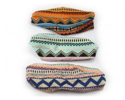 Aztec Chevron Wide Cloth Headbands