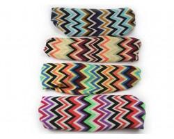 Multi Chevron Assorted Wide Cloth Headbands 12pc
