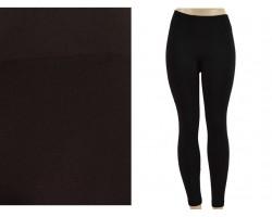 Black Solid Color Leggings