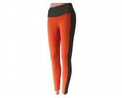 Black Orange Striped Leggings