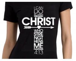 Philippians 4:13 Cross Short Sleeve Shirt