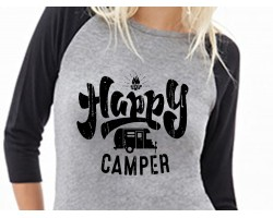 Happy Camper Mobile 3/4 Raglan Shirt