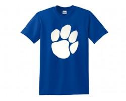 Blue White Paw Print Short Tee Shirt