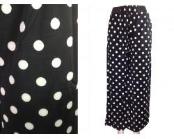 Black White Polka Dot Pattern Lounge Pants
