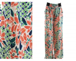 Orange Multi Floral Pattern Lounge Pants