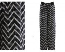 Black White Chevron Pattern Lounge Pants