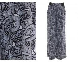 Black Floral Pattern Lounge Pants