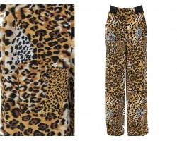 Brown Animal Print Lounge Pants