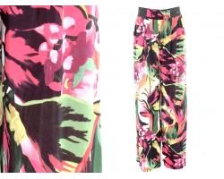 Multi Tropical Floral Print Lounge Pants