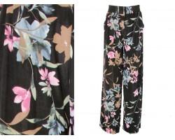 Black Floral Print Lounge Pants