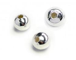 2 mm Plain Plated Large Hole Beads