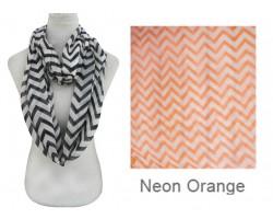 Orange Neon Chevron Infinity Scarf