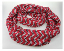 Houndstooth Red Chevron Infinity Scarf